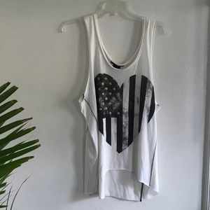 Loose fitting graphic tank